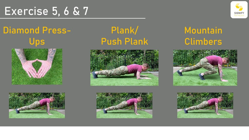 Exercise 5, 6 & 7 Plank/ Push Plank Mountain Cl...