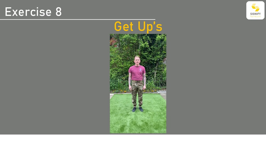 Exercise 8 Get Up's