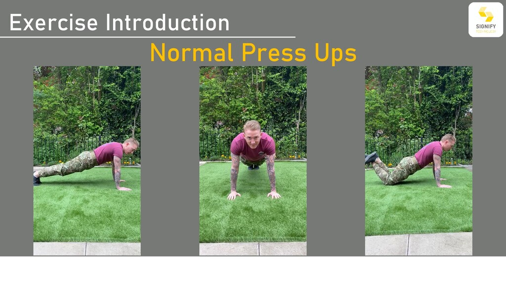 Exercise Introduction Normal Press Ups