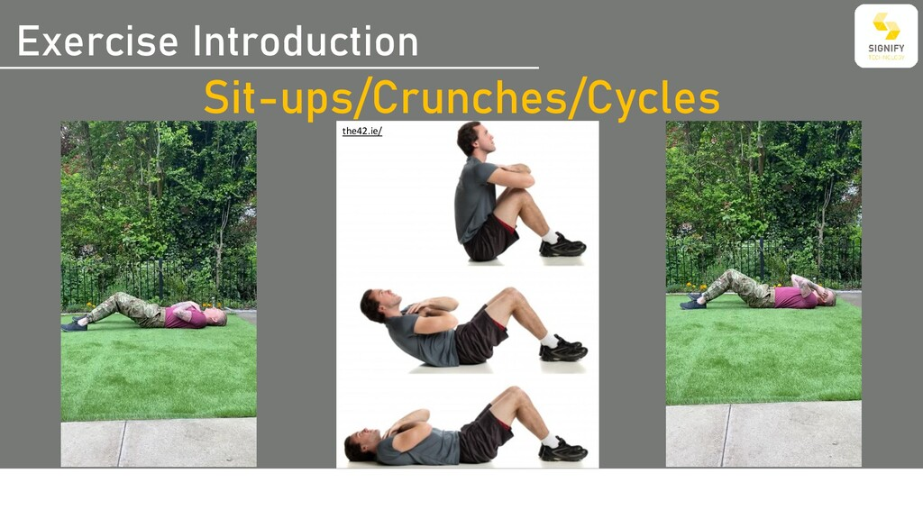 Exercise Introduction Sit-ups/Crunches/Cycles t...