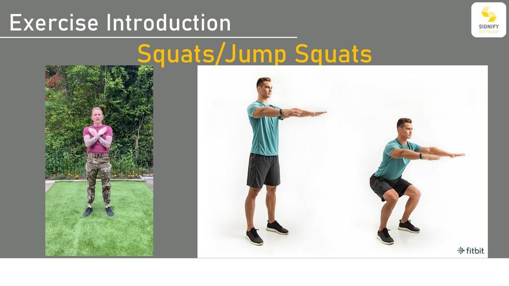 Exercise Introduction Squats/Jump Squats
