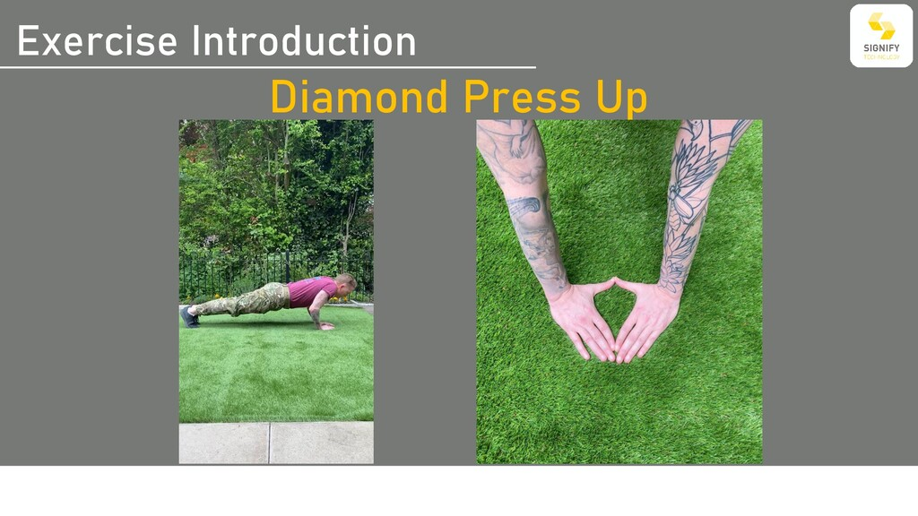 Exercise Introduction Diamond Press Up