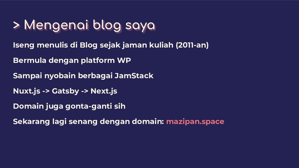 > Mengenai blog saya Iseng menulis di Blog seja...