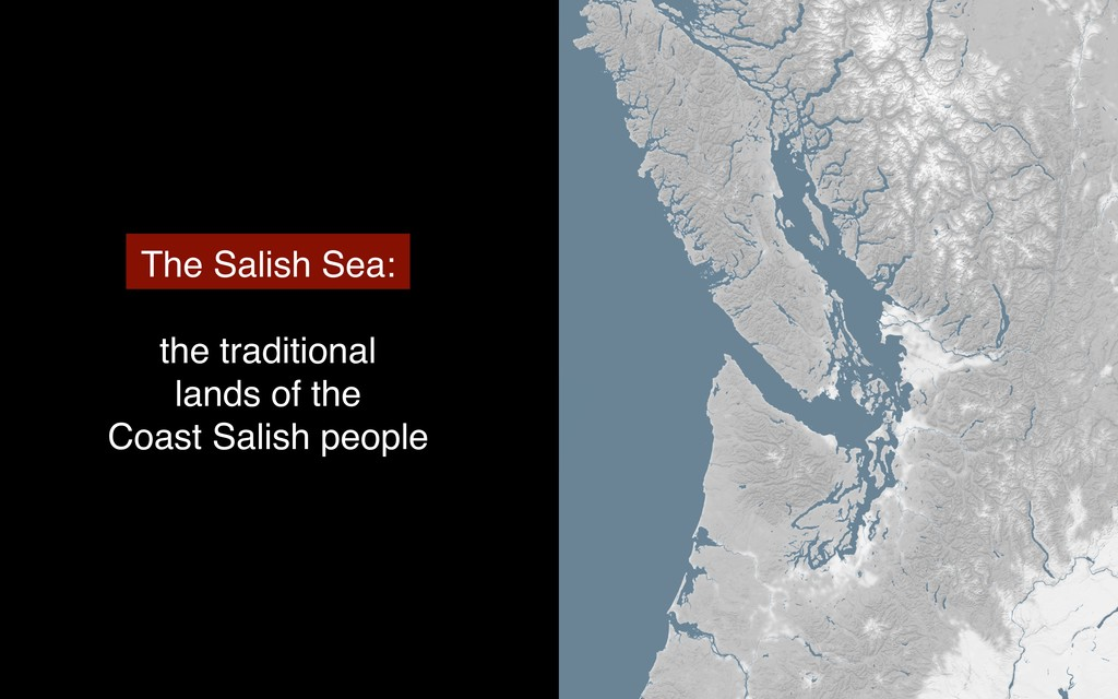 The Salish Sea: the traditional lands of the Co...