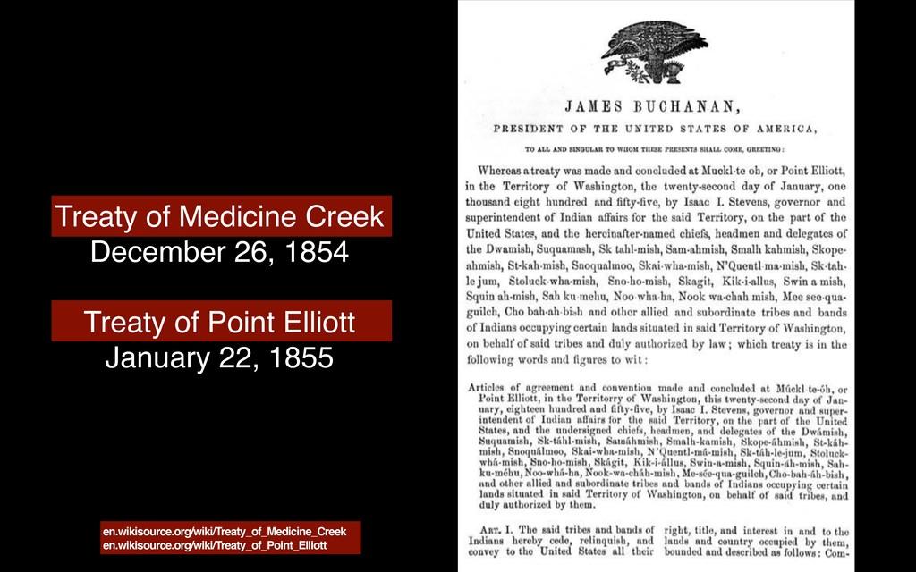 Treaty of Medicine Creek December 26, 1854 Trea...