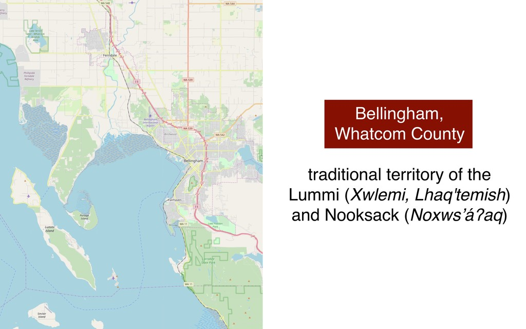 Bellingham, Whatcom County traditional territor...