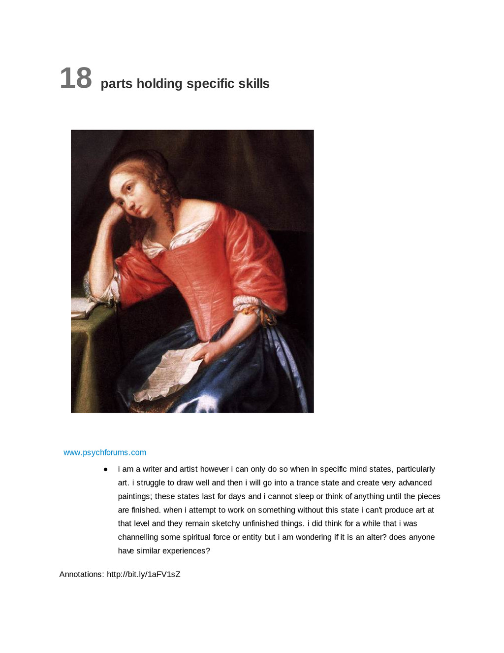 18 parts holding specific skills www.psychforum...