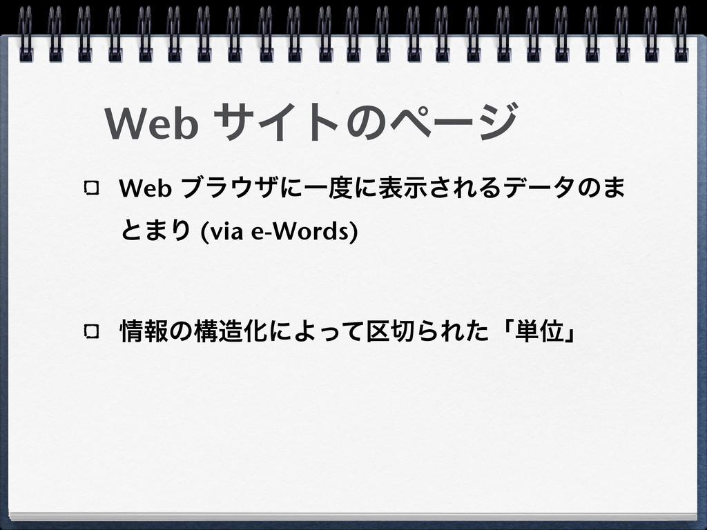 Web αΠτͷϖʔδ Web ϒϥβʹҰʹදࣔ͞ΕΔσʔλͷ· ͱ·Γ (via e-W...