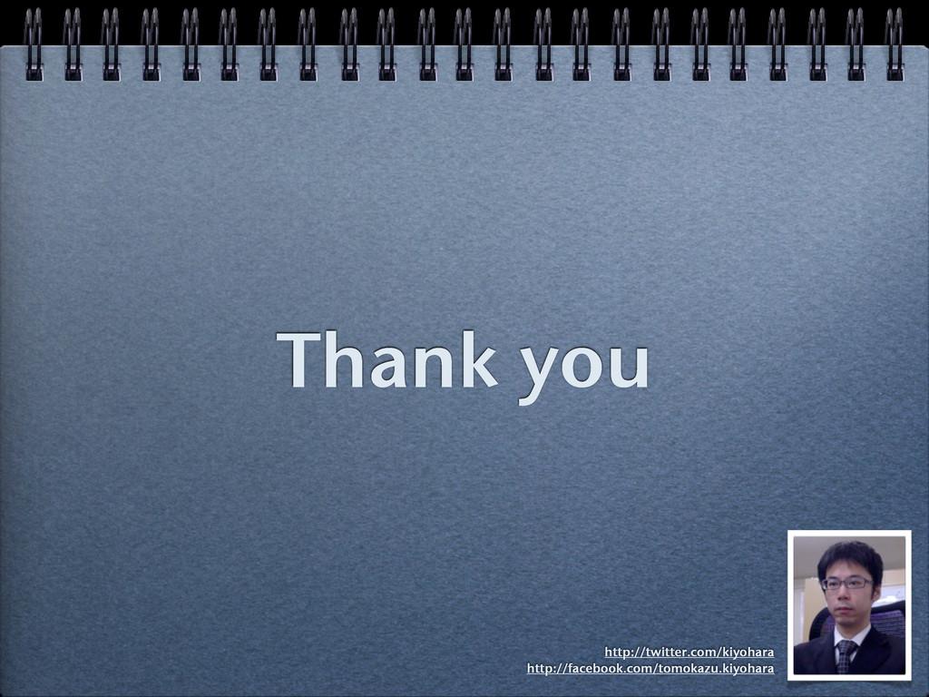 Thank you http://twitter.com/kiyohara http://fa...