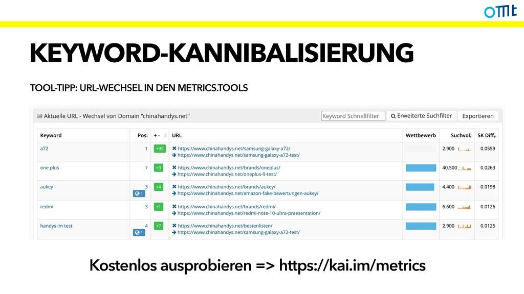 KEYWORD-KANNIBALISIERUNG TOOL-TIPP: URL-WECHSEL...