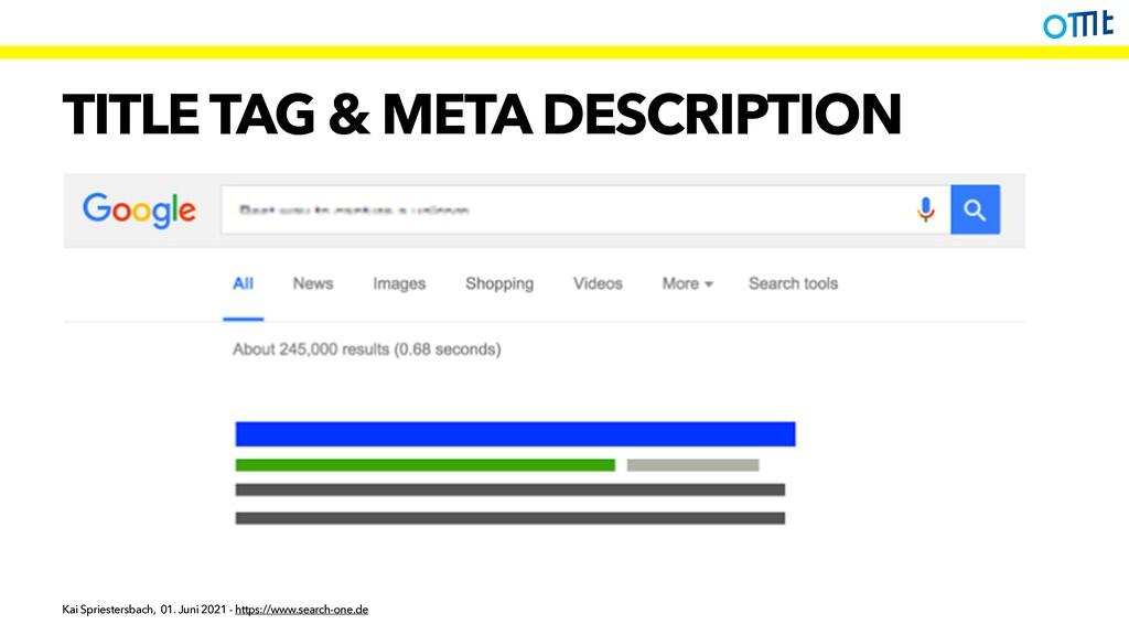 TITLE TAG & META DESCRIPTION Kai Spriestersbach...