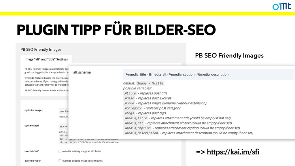 PLUGIN TIPP FÜR BILDER-SEO => https://kai.im/sf...