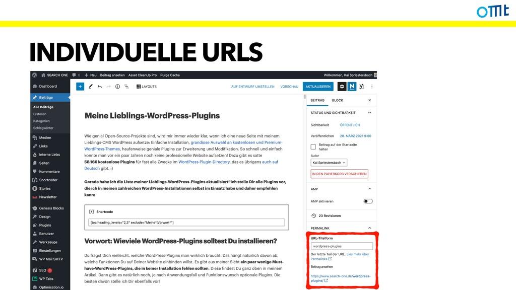 INDIVIDUELLE URLS