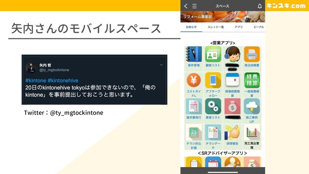 矢内さんのモバイルスペース Twitter:@ty_mgtockintone