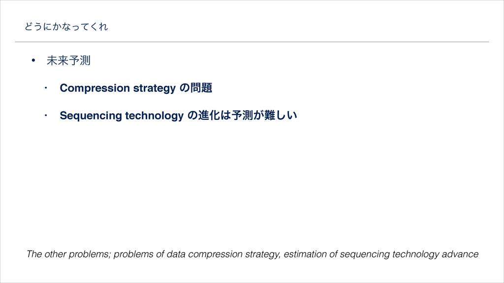Ͳ͏ʹ͔ͳͬͯ͘Ε • ະདྷ༧ଌ • Compression strategy ͷ! • ...