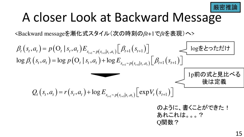 A closer Look at Backward Message 15 <Backward ...