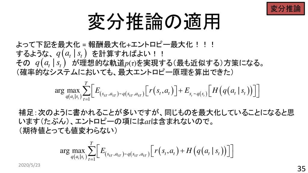 変分推論の適用 2020/5/23 35 ( ) ( ) ( ) ( ) ( ) ( ) ( ...