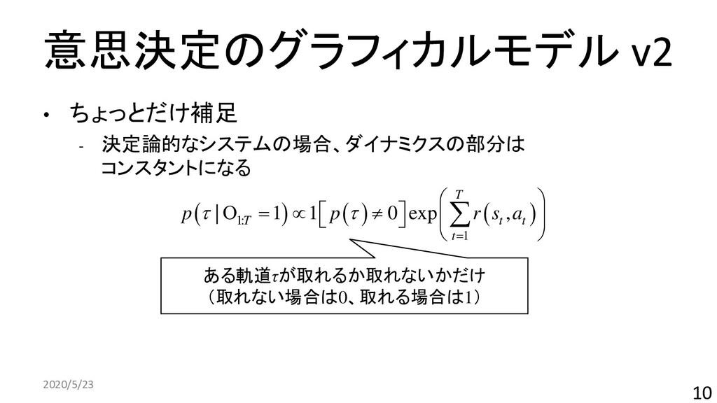 意思決定のグラフィカルモデル v2 • ちょっとだけ補足 ‐ 決定論的なシステムの場合、ダイナ...