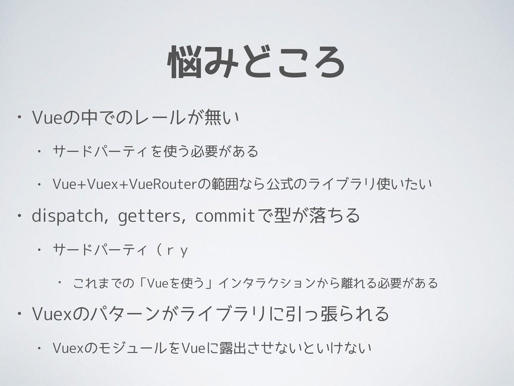 悩みどころ • Vueの中でのレールが無い • サードパーティを使う必要がある • Vue+V...
