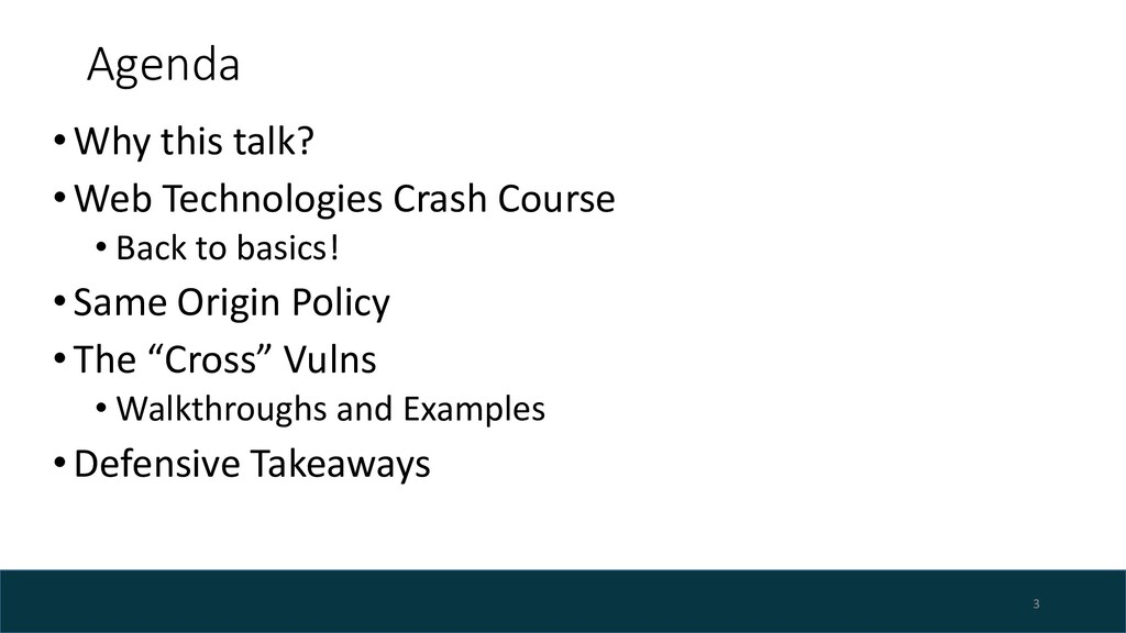 Agenda •Why this talk? •Web Technologies Crash ...