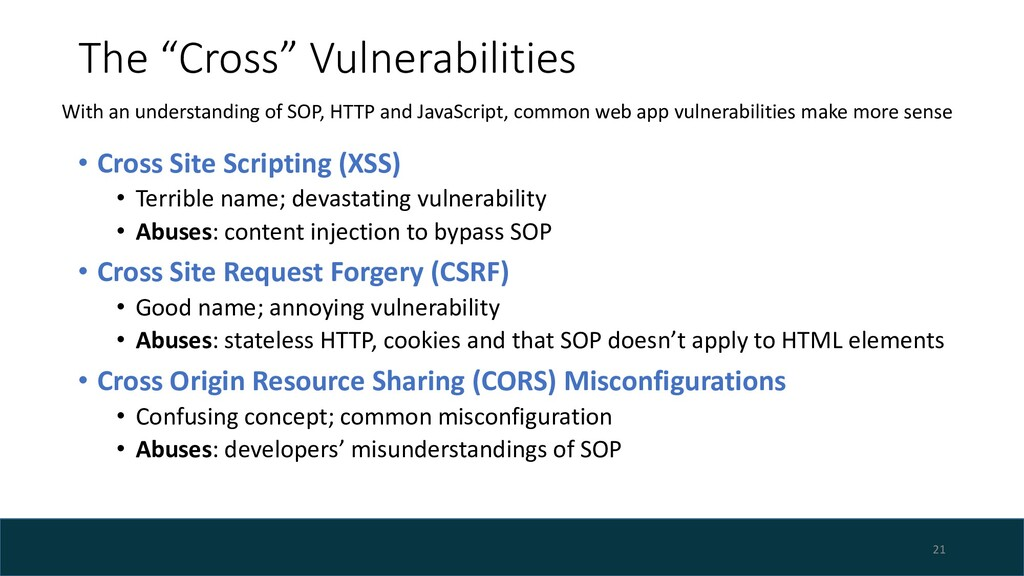 "The ""Cross"" Vulnerabilities • Cross Site Script..."