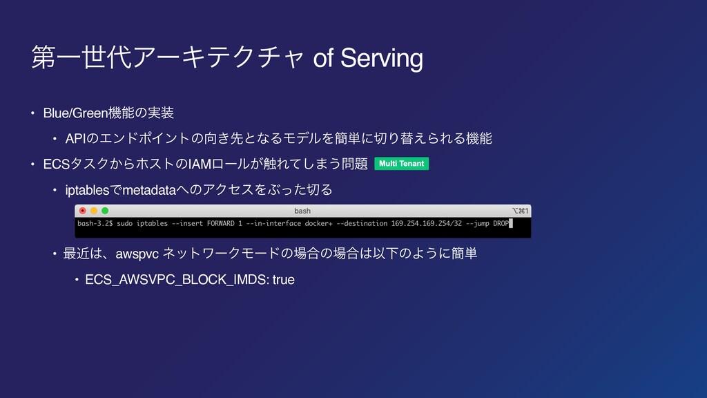 ୈҰੈΞʔΩςΫνϟ of Serving • Blue/Greenػͷ࣮ • APIͷ...
