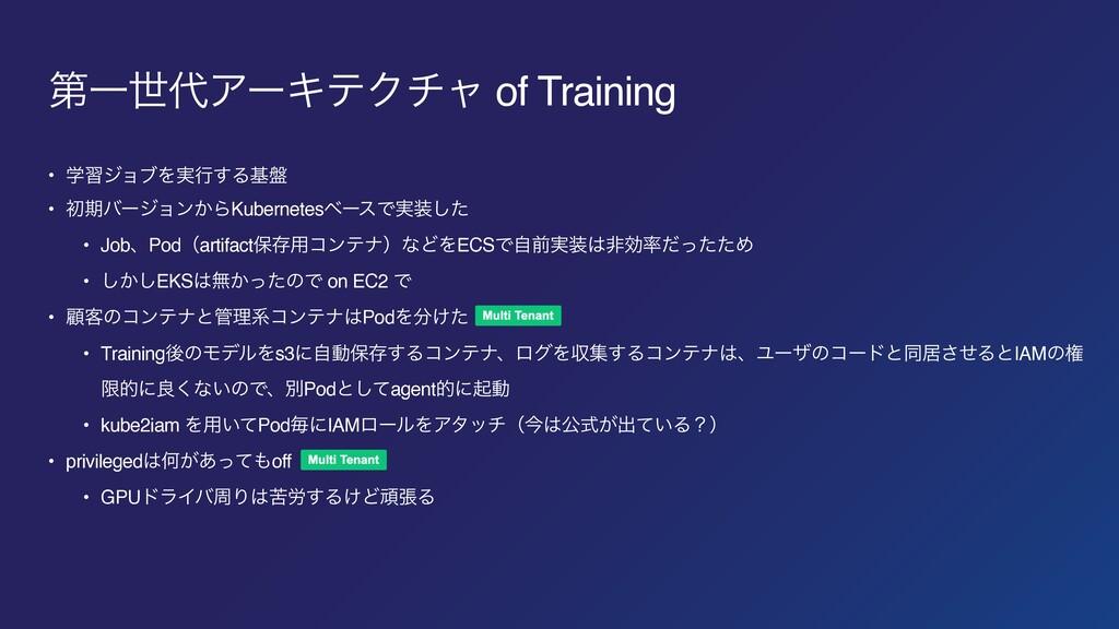 ୈҰੈΞʔΩςΫνϟ of Training • ֶशδϣϒΛ࣮ߦ͢Δج൫ • ॳظόʔδϣ...