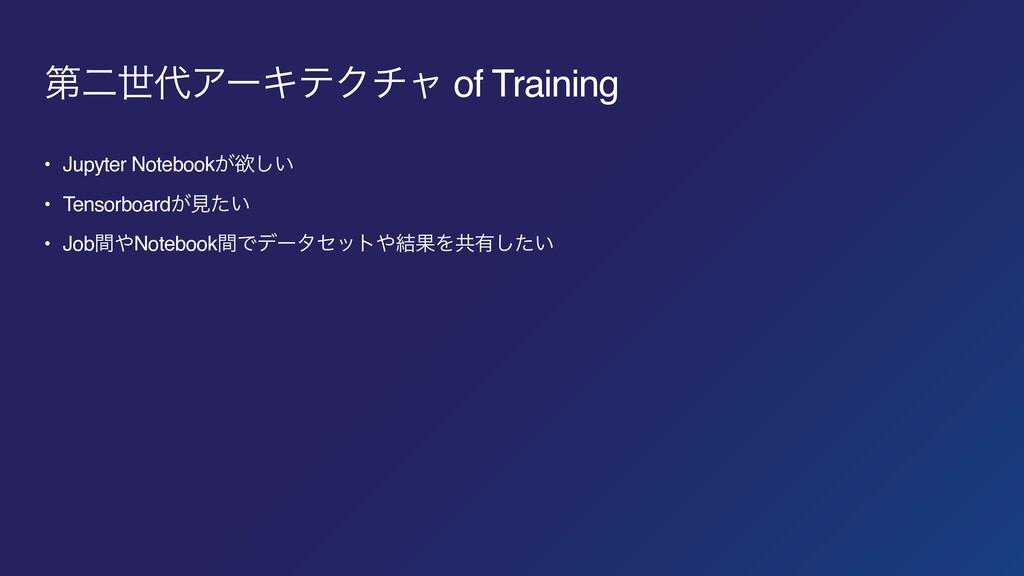 ୈೋੈΞʔΩςΫνϟ of Training • Jupyter Notebook͕ཉ͍͠ ...