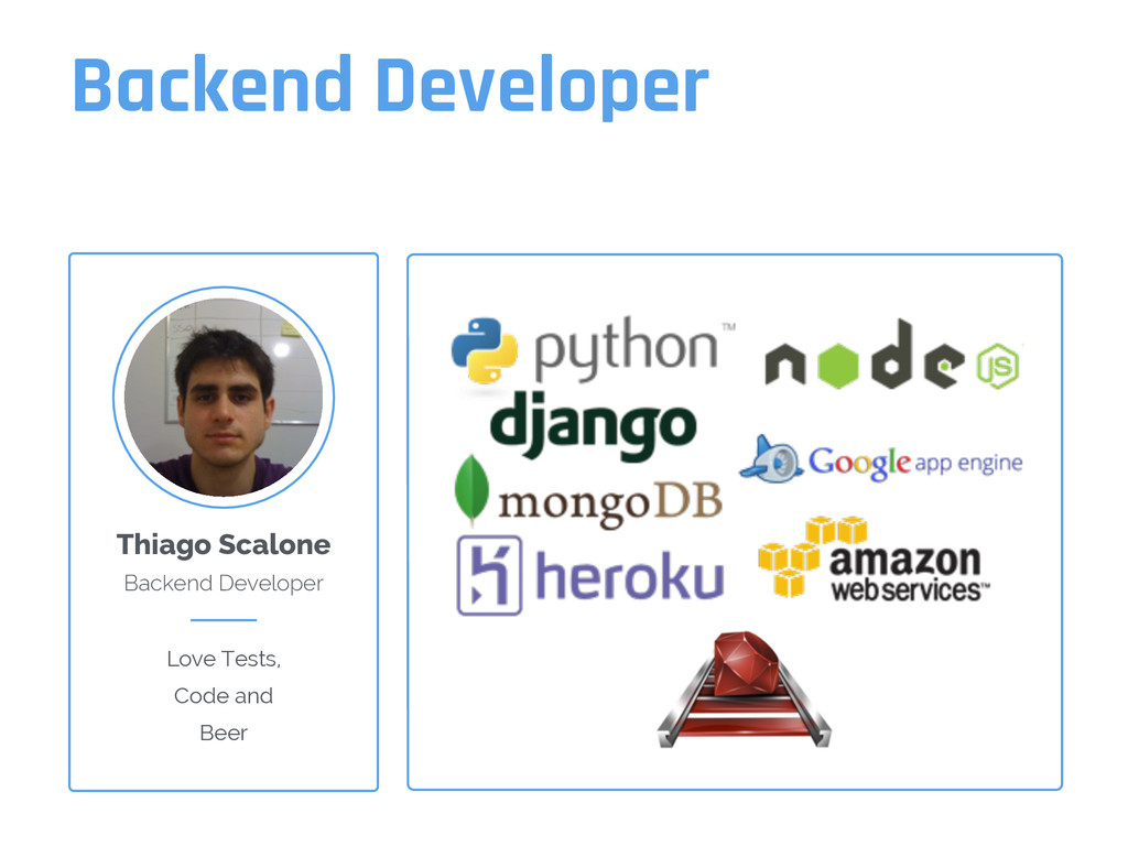 Backend Developer Thiago Scalone Backend Develo...