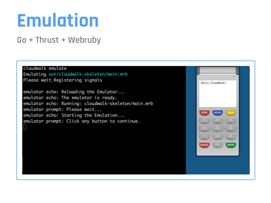 Emulation Go + Thrust + Webruby