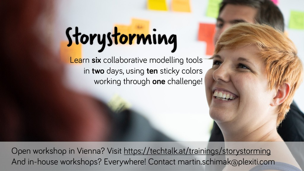 Open workshop in Vienna? Visit https://techtalk...