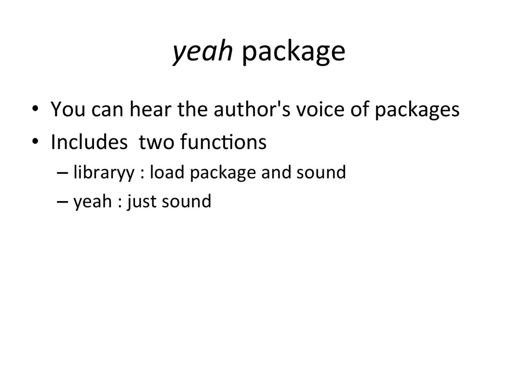yeah	