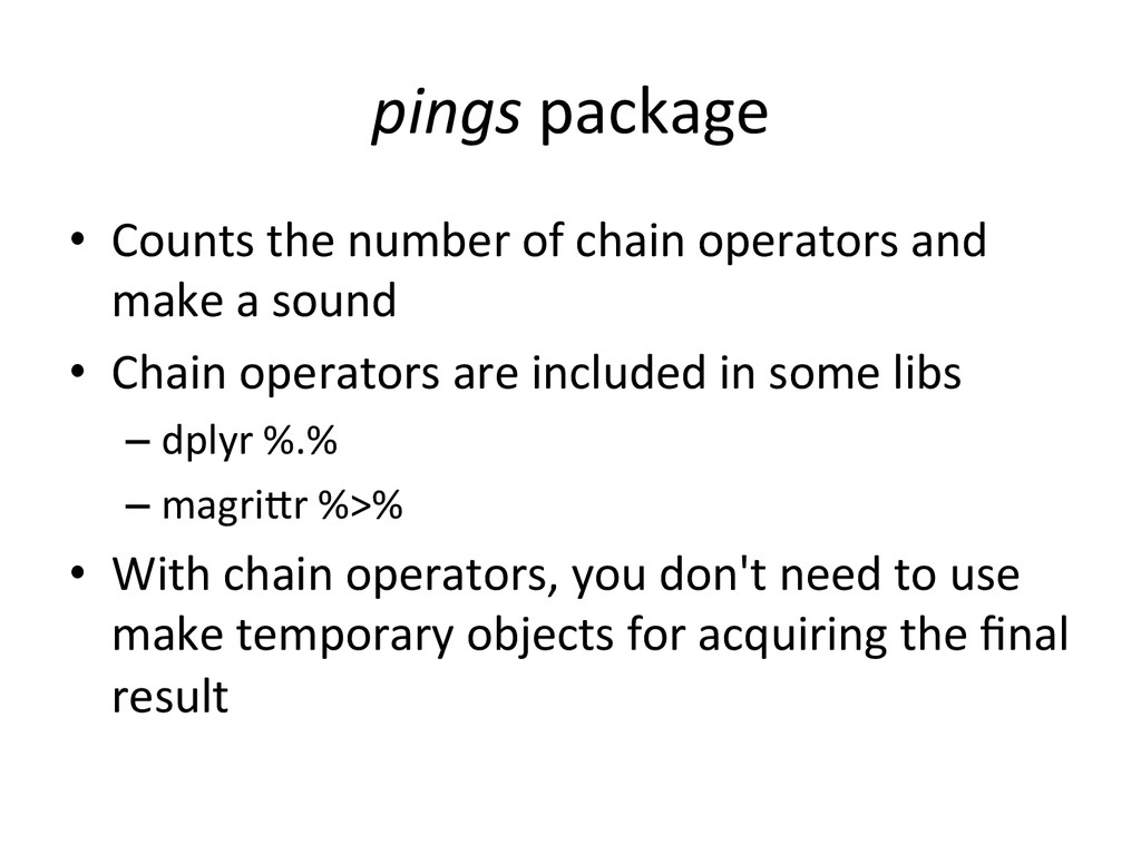 pings	