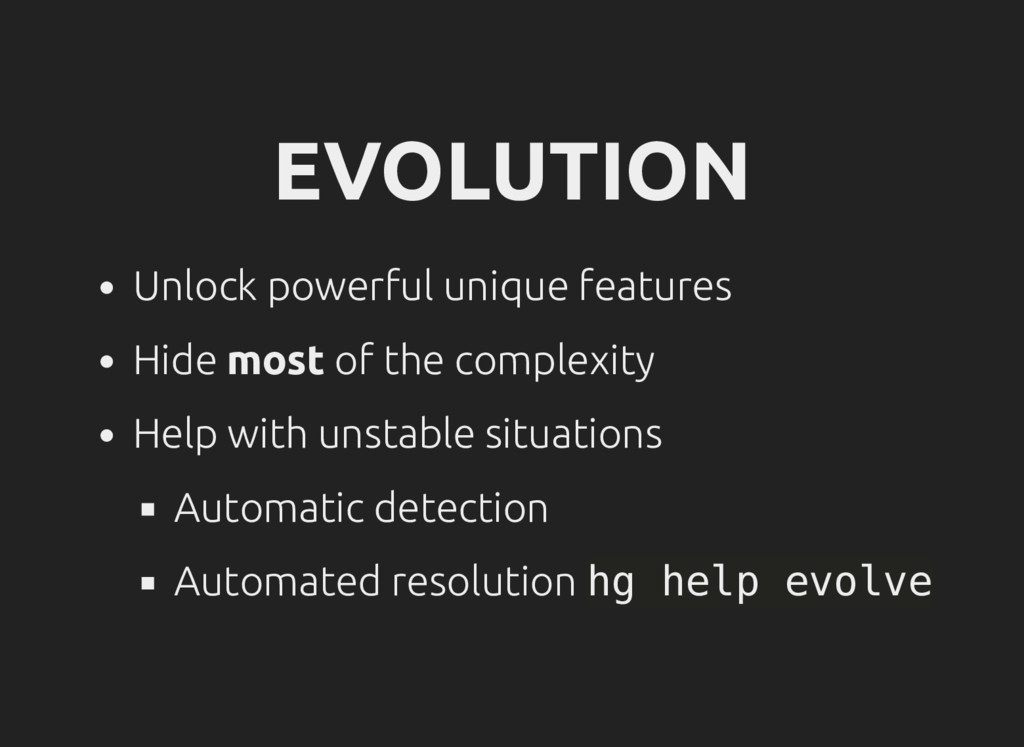 EVOLUTION Unlock powerful unique features Hide ...