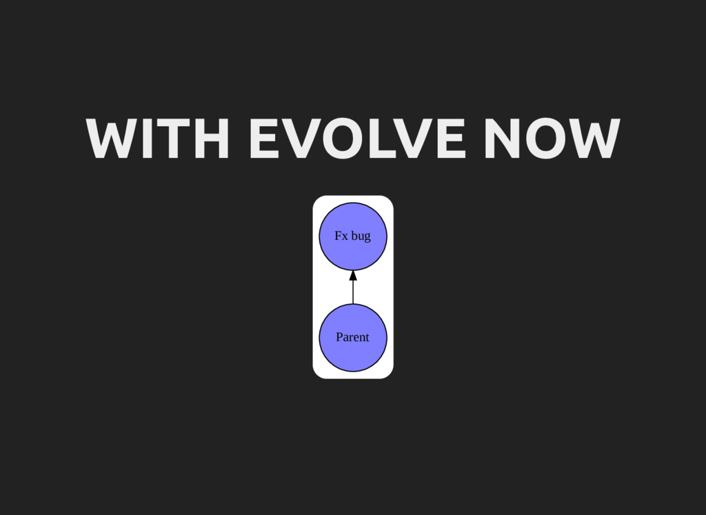 WITH EVOLVE NOW Parent Fx bug