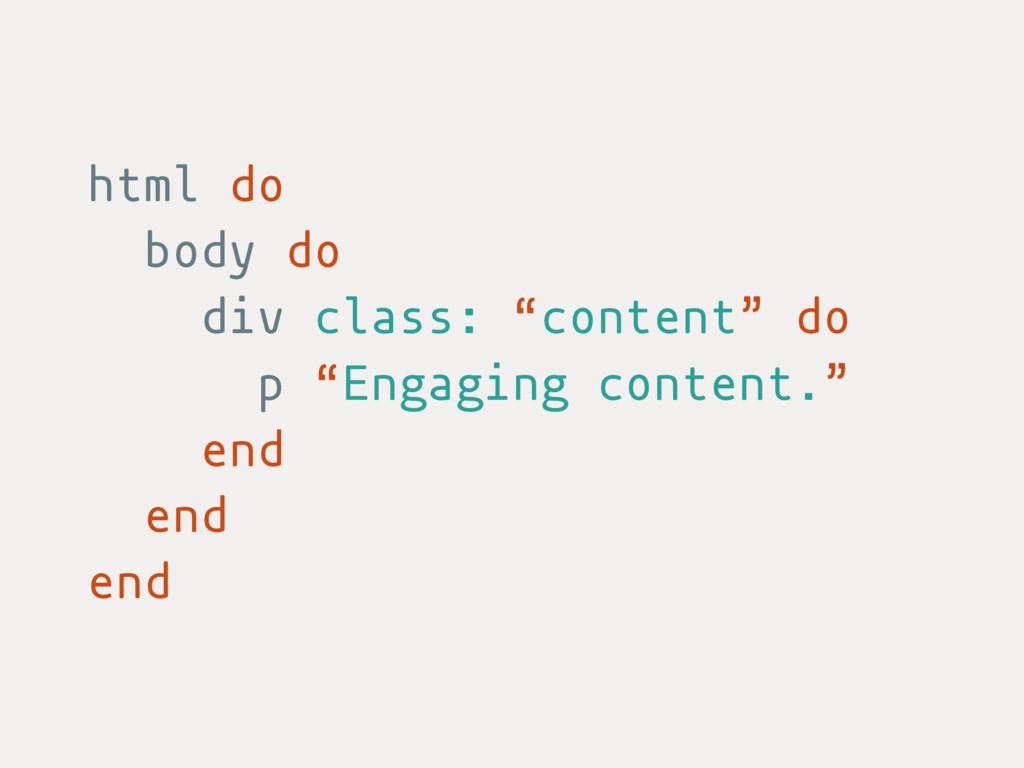 """html do body do div class: """"content"""" do p """"Enga..."""