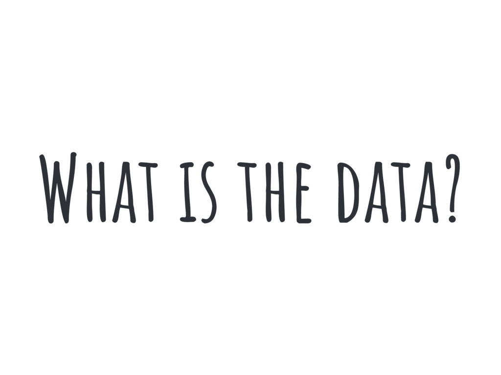 What is the data?