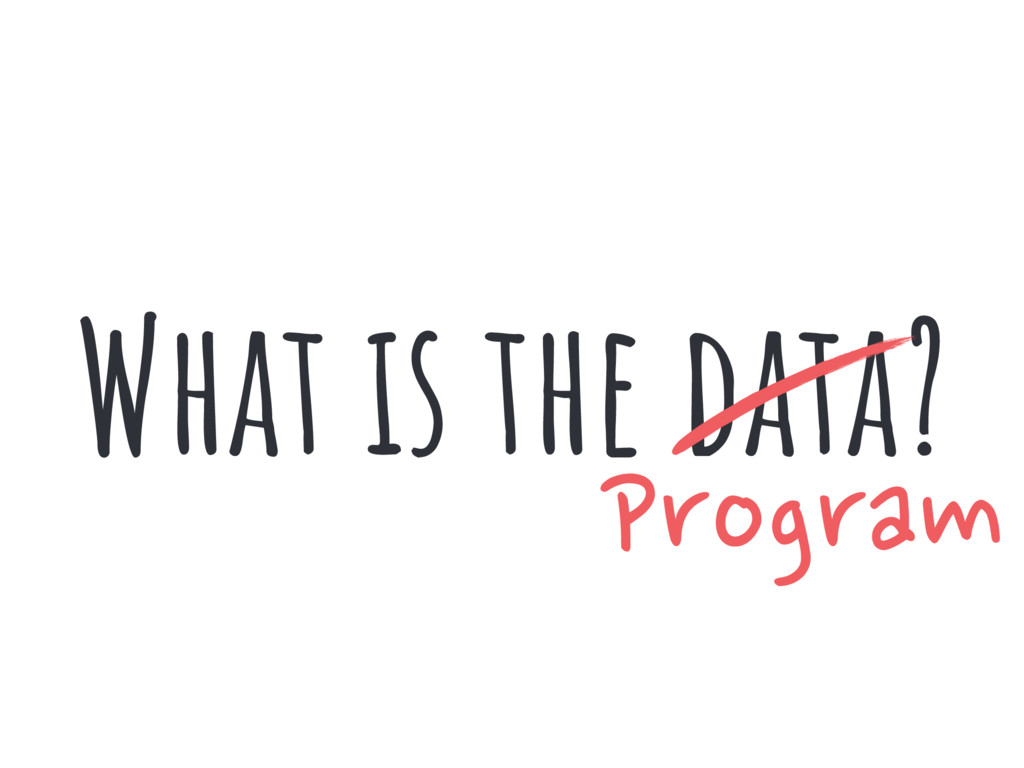 What is the data? Program