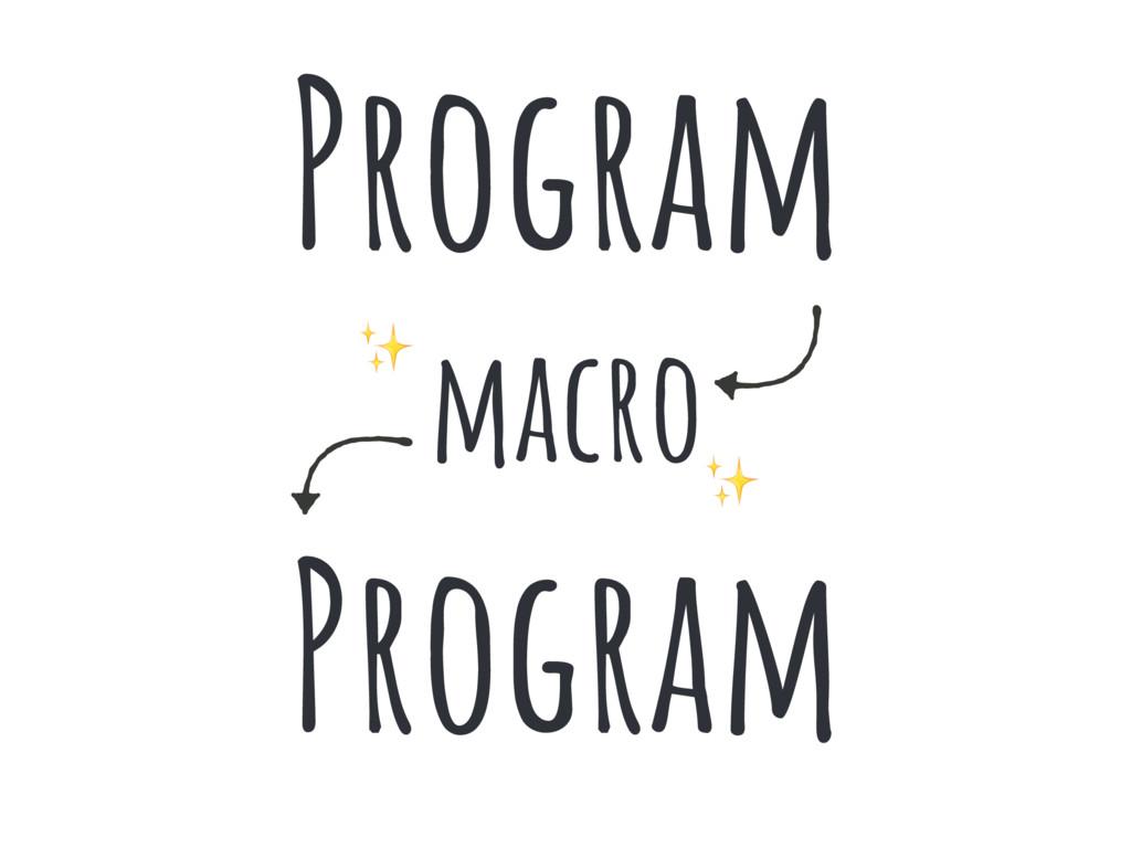 Program macro Program ✨ ✨