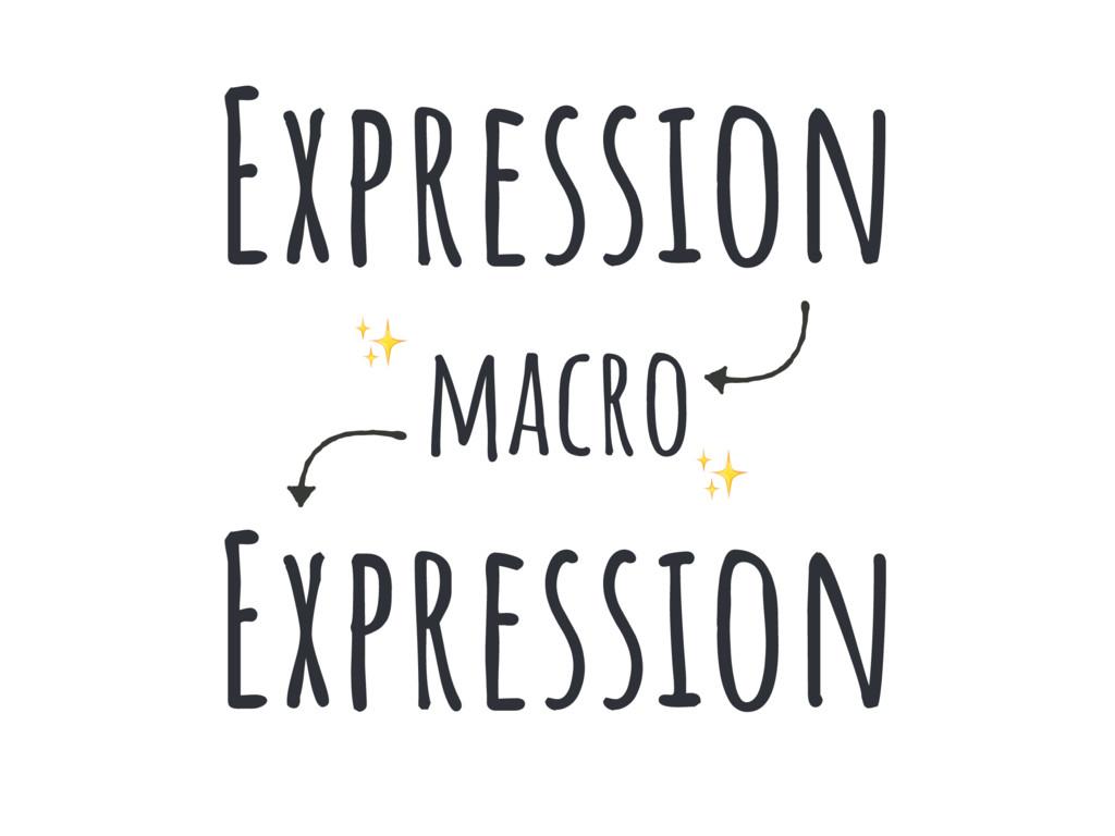 Program macro Program Expression Expression ✨ ✨