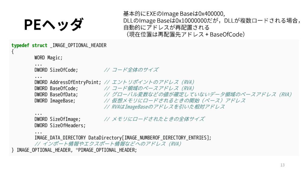 typedef struct _IMAGE_OPTIONAL_HEADER { WORD Ma...