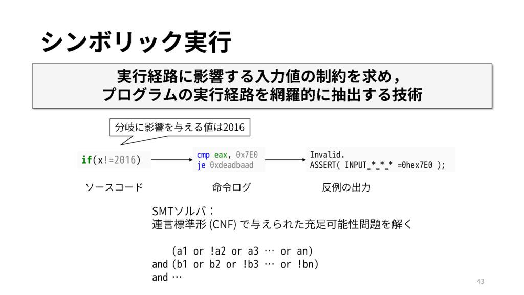 cmp eax, 0x7E0 je 0xdeadbaad if(x!=2016) Invali...