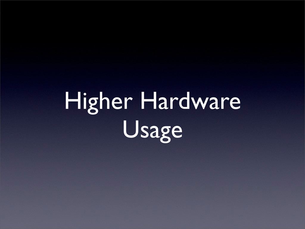 Higher Hardware Usage