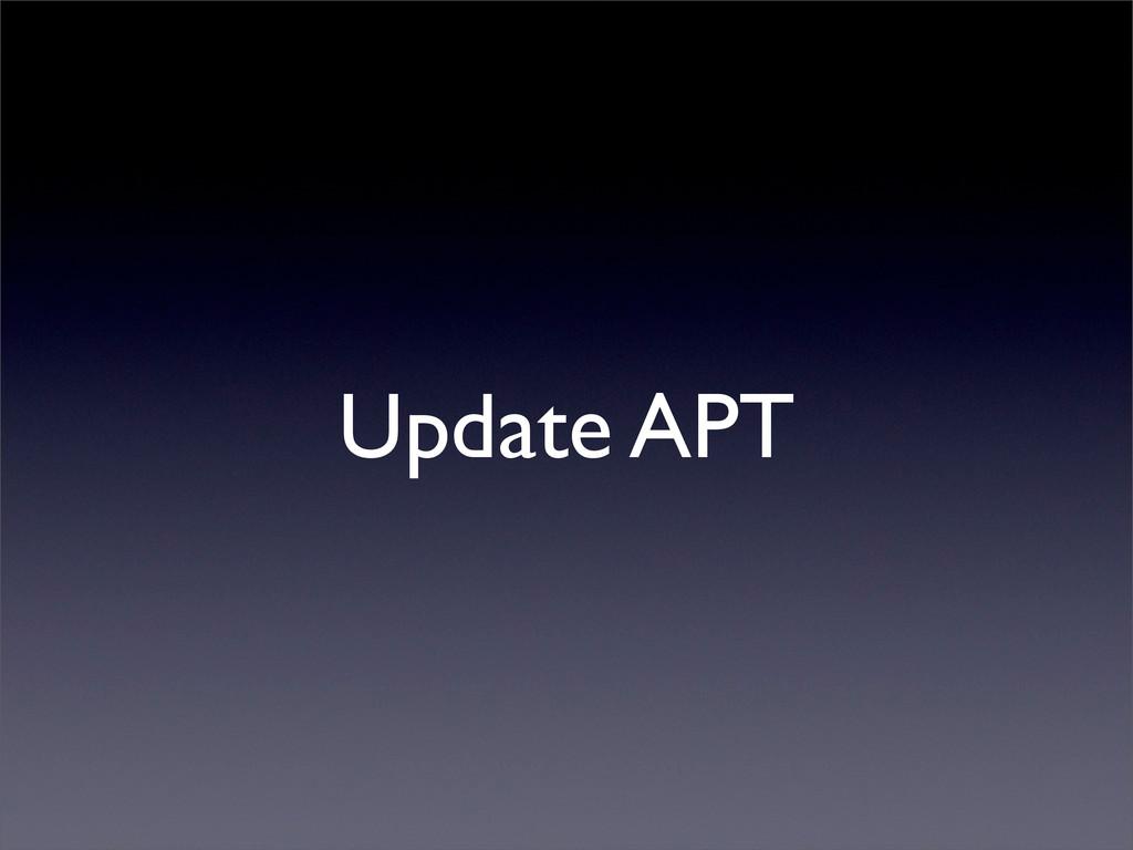 Update APT