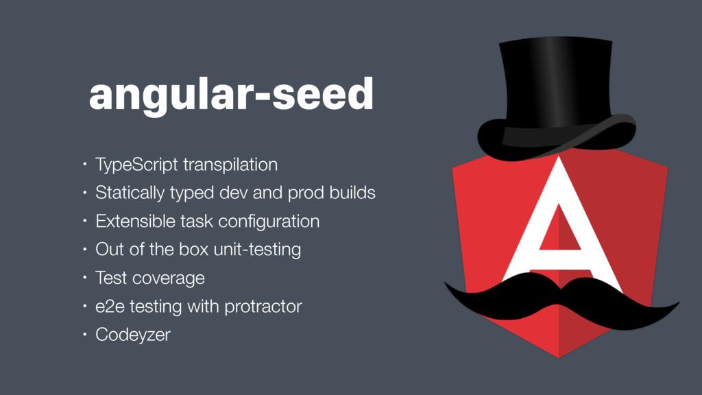 angular-seed • TypeScript transpilation • Stati...