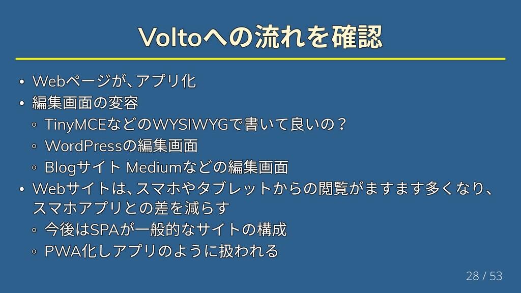 Volto への流れを確認 Volto への流れを確認 Volto への流れを確認 Volto...