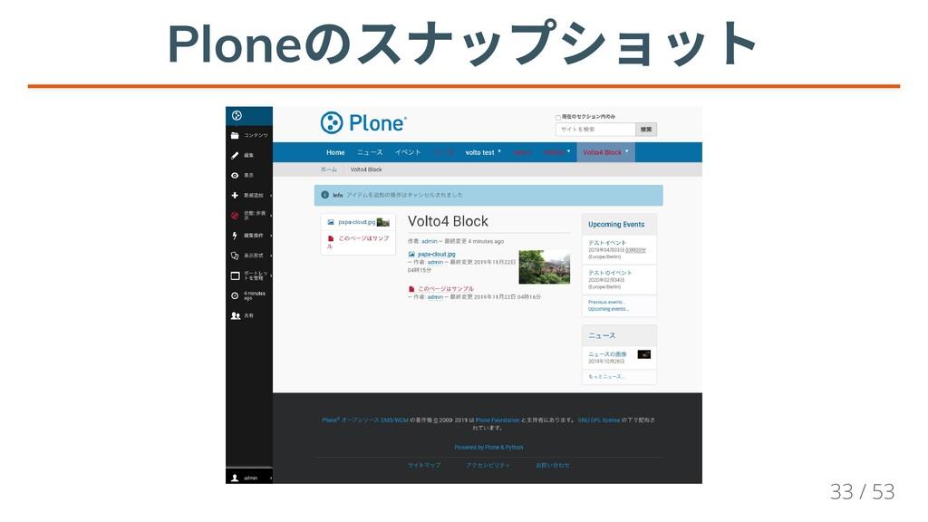 Plone のスナップショット Plone のスナップショット Plone のスナップショット...