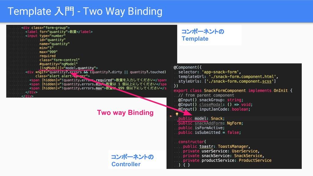 コンポーネントの Controller Template 入門 - Two Way Bindi...