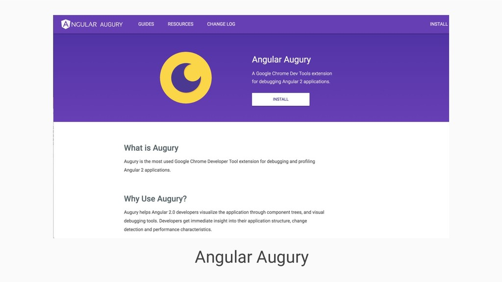 Angular Augury