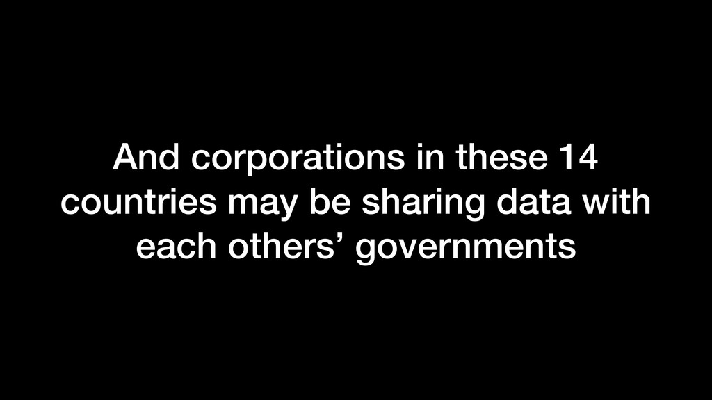And corporations in these 14 countries may be s...